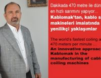Innovative approaches from Kablomak in the manufacture of cable winding machines